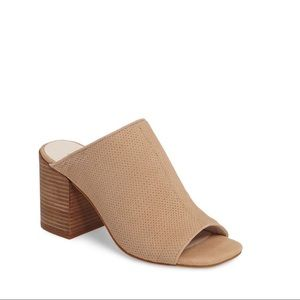 NWT Kenneth Cole Perforated Suede Mule
